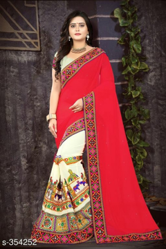 Printed Georgette Saree Vol1