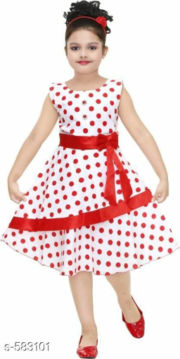 50e3592c1d78 Buy Red Dot Printed Sleeveless Dress Cotton Frock for Girls at Best ...