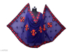 Phulkari Embroidered Chiffon Dupatta Navy Blue