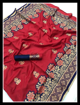 Banarasi Silk Weaving Saree in Red Color