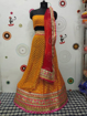 Georgette Dollar Lahenga Choli in Orange Color