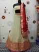 Georgette Dollar Lahenga Choli in Cream Color