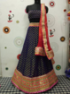 Georgette Dollar Lahenga Choli in Navy Blue Color