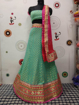 Georgette Dollar Lahenga Choli in Turquoise Color