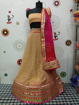 Georgette Dollar Lahenga Choli in Bronze Color