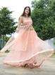 Net Lehenga With Silk Inner in Pink Color
