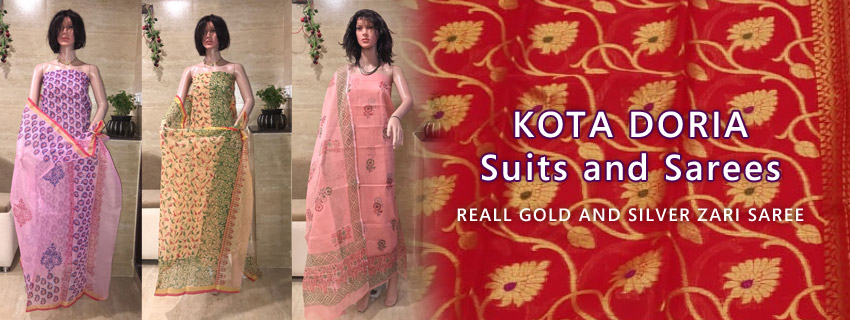 Kota Doria Cotton Salwar Suits, Dress Materials, Aari Work, Embroidery, Block Print, Self Print, Gotta Patti