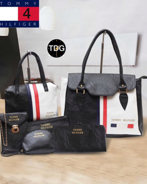 Black & White Color Tommy Hilfiger Handbags, Purses & Clutches