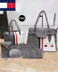 Gray & White Color Tommy Hilfiger Handbags, Purses & Clutches