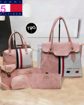Pink & White Color Tommy Hilfiger Handbags Clutches