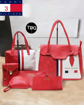 Red & White Color Tommy Hilfiger Ladies Handbags Clutches