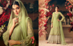 Buy Faux Georgette Palazzo Suits, Embroidery Palazzo Suits, Faux Georgette Salwar Kameez  in Green Color on UdaipurBazar.com