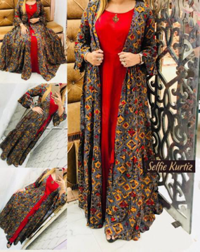 Buy Rayon Designer Selfie Kurtis Online at Best Prices on UdaipurBazar.com