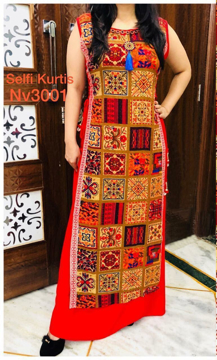 Buy Selfie Kurtis With Double Layer Kurti Online at Best Prices on UdaipurBazar.com