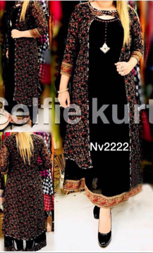 Buy Selfie Kurtiz With  Double layer Kurti with Inner Online at Best Prices on UdaipurBazar.com