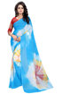 Buy Multicolor Chiffon Saree Online at Best Prices on UdaipurBazar.com