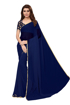 Buy Navy Blue Color Chiffon Sarees With Light Border Online at Best Prices on UdaipurBazar.com