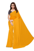 Buy Yellow Chiffon Saree With Light Border Online at Best Prices on UdaipurBazar.com