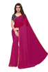 Buy Purple Chiffon Saree With Light Border Online at Best Prices on UdaipurBazar.com