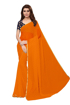 Buy Orange Chiffon Saree With Light Border Online at Best Prices on UdaipurBazar.com