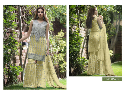 Sharara Suits Net Moti and Payal Work Party Wear