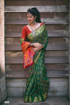 Banarasi Silk Weaving Patola Saree in Green Color