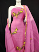 Kota Doria Embroidery Suits Dress Material Pink Color