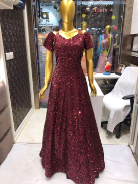 Sequins work gown