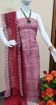 Kota doria block print kurtis in red