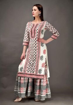 Cotton Sharara Kurti Dress