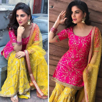 Heavy Work Kurti Sharara With Dupatta