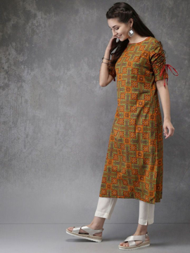 Rayon Designer Kurti Pants Dress for an ethnic look in summers