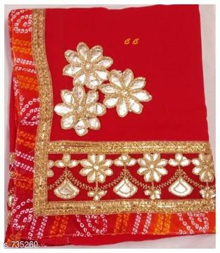 Georgette Saree Udaipur Bazar - 2