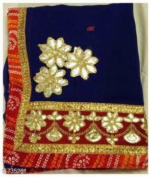 Georgette Saree Udaipur Bazar - 3