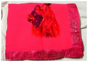 Georgette Saree Udaipur Bazar - 4