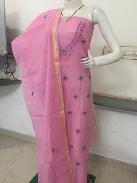Kota Doria Embroidery Work Salwar Suits