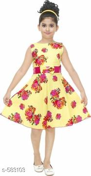 Printed Sleeveless Girls Dress