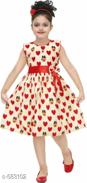 Floral Printed Sleeveless Dress Cotton Frock for Girls