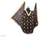 Phulkari Embroidered Chiffon Dupatta Black