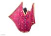 Phulkari Embroidered Chiffon Dupatta Pink