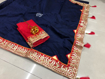 Beautiful Chanderi Cotton Saree For Hot Summer in Navy Blue Color