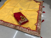 Beautiful Chanderi Cotton Saree For Hot Summer in Yellow Color