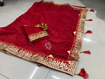 Beautiful Chanderi Cotton Saree For Hot Summer in Red Color
