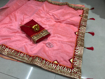 Beautiful Chanderi Cotton Saree For Hot Summer in Pink Color