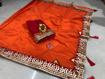 Beautiful Chanderi Cotton Saree For Hot Summer in Orange Color