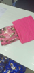 Pure Nazamin Saree With Soft Net Foil Gold Print in Pink