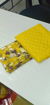 Pure Nazamin Saree With Soft Net Foil Gold Print in Yellow