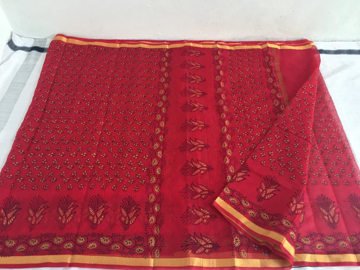 Kota Doriya Saree  in Red Color