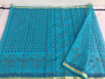 Kota Doriya Saree  in Turquoise Color