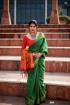 Banarasi Weaving Patola Saree  in Green Color